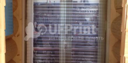 Г. Серпухов. Рольставня с фотопечатью в частном доме. Установка коробом внутрь. Размеры 750*1800
