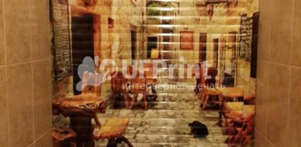 Севастопольский проспект. Рольставня в санузел с фотопечатью, установка коробом наружу. Размеры 660* 1400.